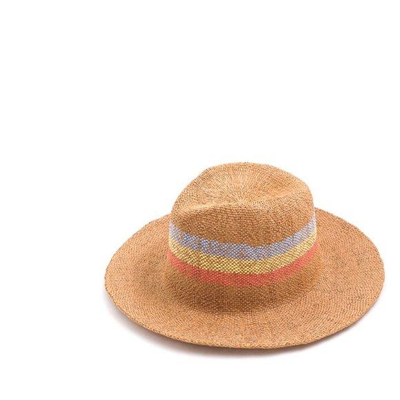 Sand Striped Panama Beach Hat